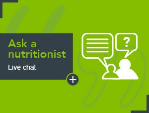 Ask a nutritionist live chat