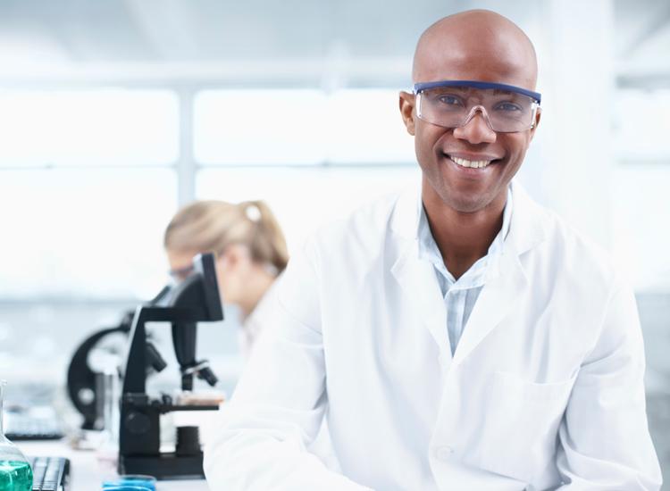 Male scientist